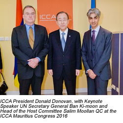 D Donovan, S Moollan, Ban Ki-Moon - ICCA Congress Mauritius
