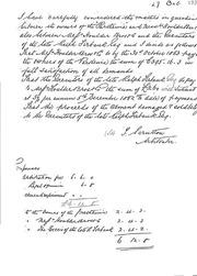 Scrutton Award on Interest - Historic Arbitration Documents