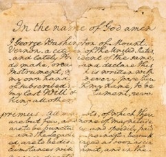 The Arbitration Clause in George Washington's Last Will & Testament - Historic Arbitration Documents